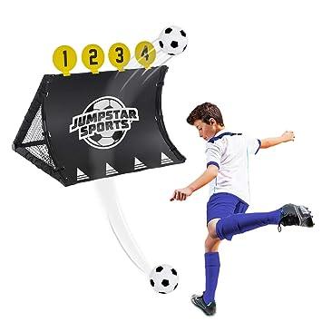 6b1acd2a9 JumpStar Sports Football Training System Goal Kids 4 In 1 Target Shot  Rebound Kickback Net Toy: Amazon.co.uk: Sports & Outdoors