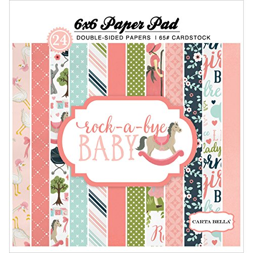 Carta Bella Paper Company CBRBG63015 Rock-a-Bye Girl 6x6 Paper Pad