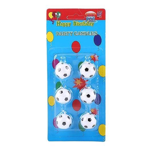 Taidda Velas de cumpleaños de fútbol, decoración para Tartas ...