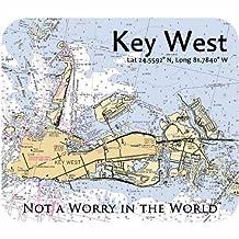 Key West Nautical Map Mousepad by Island Jay