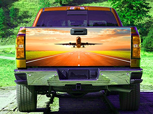 Take-off strip Aircraft Tailgate Wrap, Truck Decal, Tailgate Sticker (Off Natures Gate)