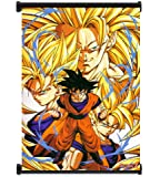 Dragon Ball Z Anime Super Saiyan Goku Fabric Wall Scroll Poster (16x21) Inches. [WP]DragonBallZ-2
