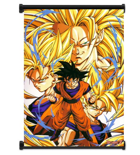 Dragon Ball Z Anime Super Saiyan Goku Fabric Wall Scroll Poster Wp DragonBallZ-2