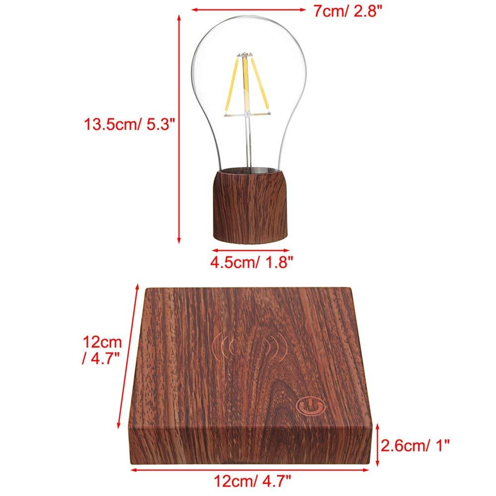 Disumos Magnetic Levitating Lamp Magnetic Levitating Floating LED Bulb Night Light Gift Home Desk Lamp Decor AC110-240V - UK Plug by Disumos (Image #2)