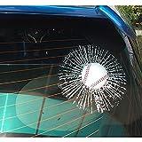 COGEEK Broken Glass 3D Sticker Car Window Ball Hits Self Adhesive Funny Car Stickers (Baseball)