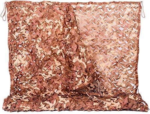 カモフラージュネット 2×3m 砂漠 偽装網 迷彩柄ネット野鳥撮影 狩猟 装飾
