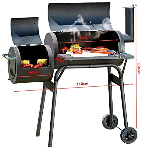 MORAN Garden BBQ Parrilla Americana de carbón de leña para ...