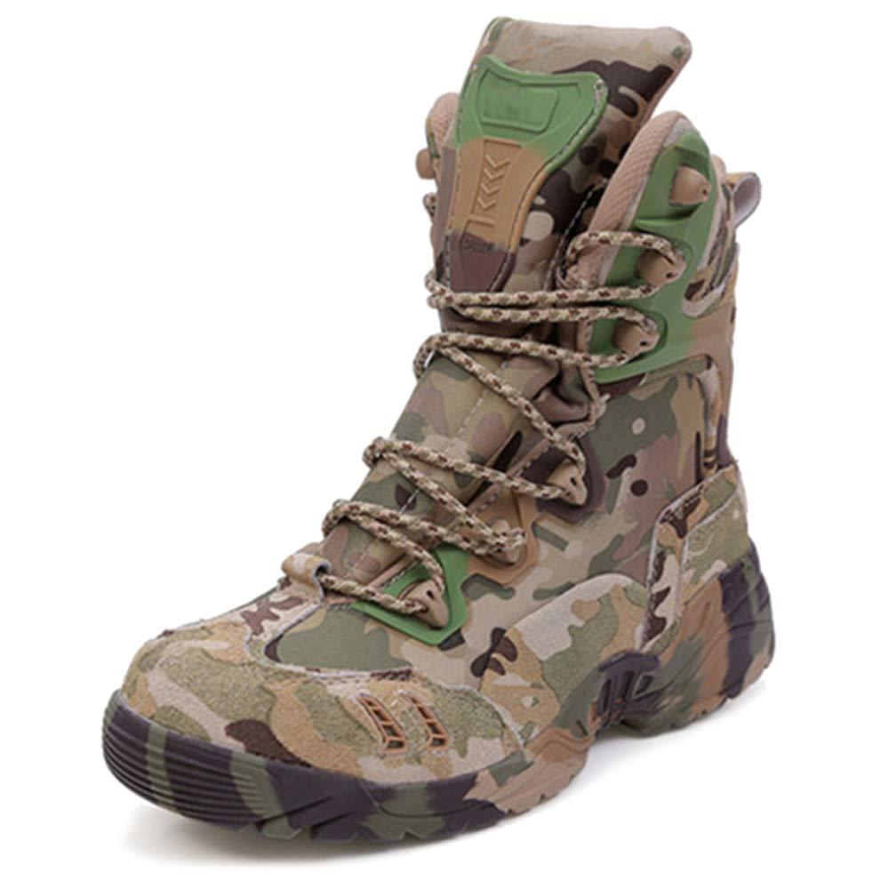 QIKAI Taktische Stiefel Wasserdicht Taktische Männliche Wüstenstiefel Armeestiefel Der Spezialeinheiten Magnum Outdoor-Camouflage Wanderschuhe