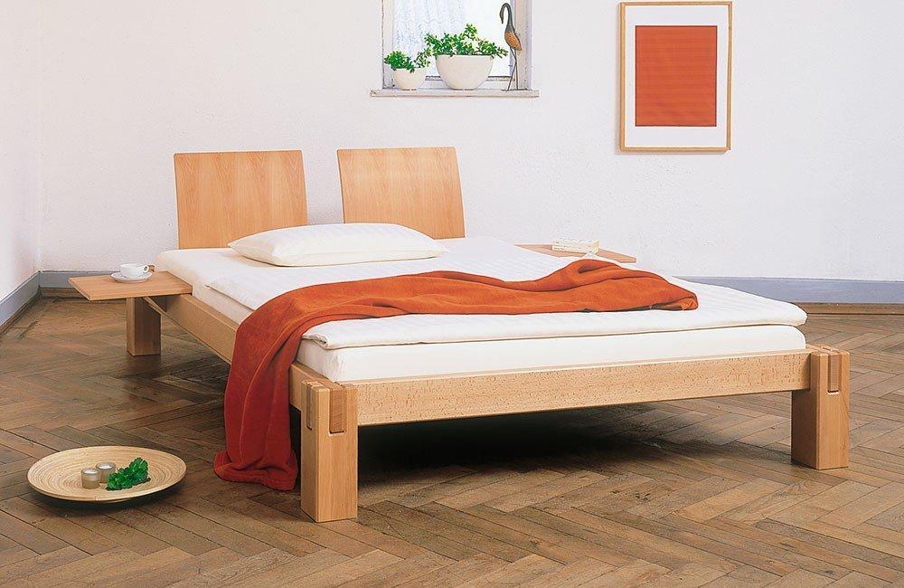 Massivholzbett Logo - metallfreies Bett - von Prolana, Größe:100x220cm