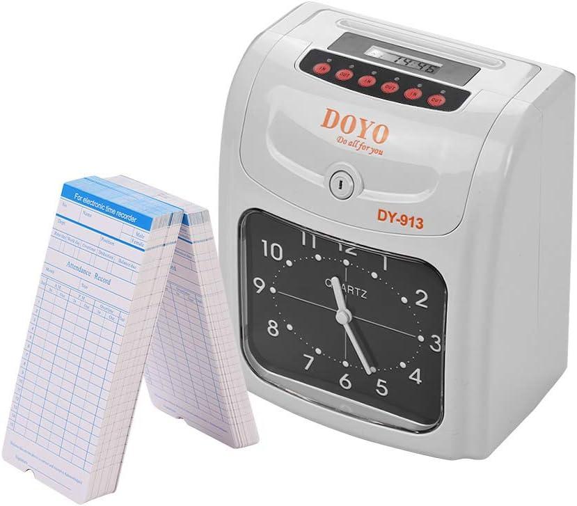 Aibecy DOYO Reloj de Tiempo electrónico Pantalla LED Doble Color Impresión con batería de Almacenamiento incorporada 50 Tarjetas de Tiempo 2 Teclas