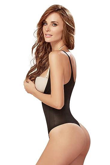 cb680d51d4aa0 Fajas Colombianas Shapewear Braless Thong Lift Up The Breast Shaper  Bodysuit Black