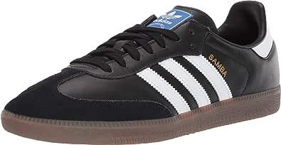 adidas Originals Men's Samba OG Sneaker Black/White/Gum 10.5