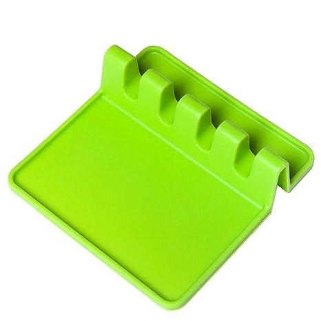 Alfombrilla para cuchara de silicona antiadherente para utensilios ...
