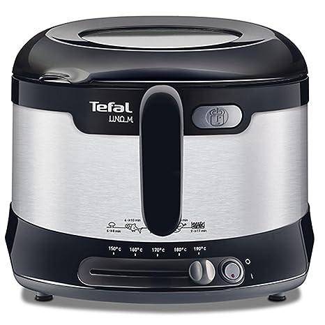 Tefal FF133D10 - Freidora (1 kg, Solo, Negro, Acero inoxidable, 1600