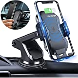 Wireless Car Charger Mount Touching Sensing 10W Automatic Clamping Qi Car Charger,Windshield Dashboard Air Vent Car Phone Holder Compatible with iPhone Xs Max/X/XR/8 Plus,Samsung Galaxy Note etc