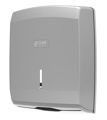 Clar Systems T6100PP Dispensador de Papel Toalla, 600 Toallas, Acero Líquido