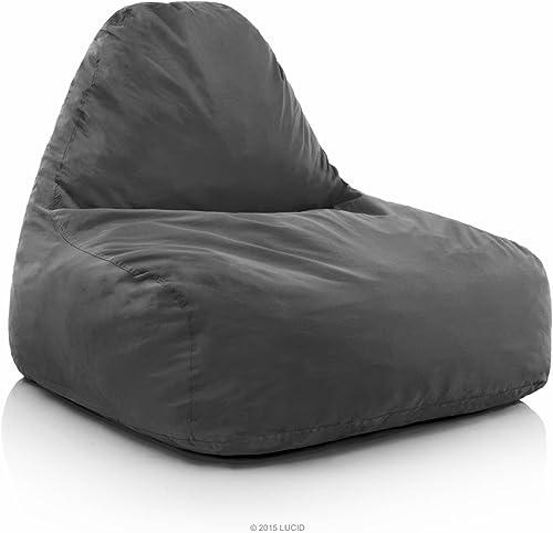 LUCID Oversized Shredded Foam Lounge Chair - the best bean bag chair for the money