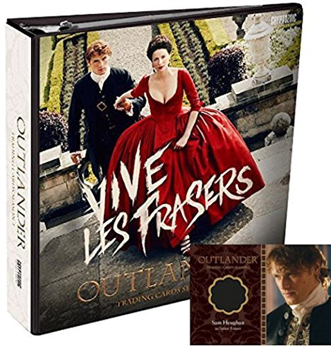 - 2017 Cryptozoic Outlander Season 2 Trading Cards Factory Sealed Binder With Sam Heughan as Jamie Fraser (Binder Exclusive) B1 Wardrobe Card
