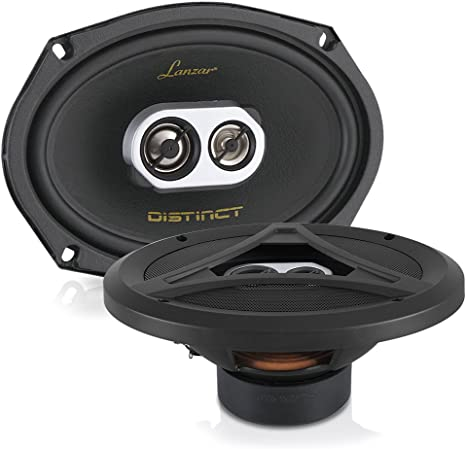 "Lanzar MX693 6/""x9/"" 600 Watt 3-Way Coaxial Speaker Pair"