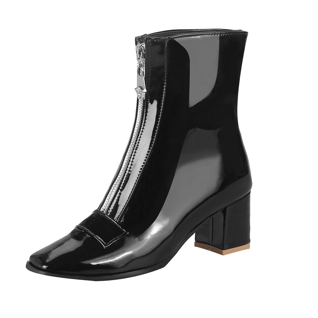 Mee Shoes Damen Reißverschluss chunky heels Plateau Stiefel