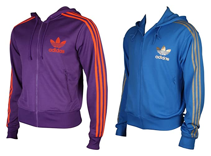adidas Hooded Flock TT Royal v32627, Hombre, Azul Cobalto, Small