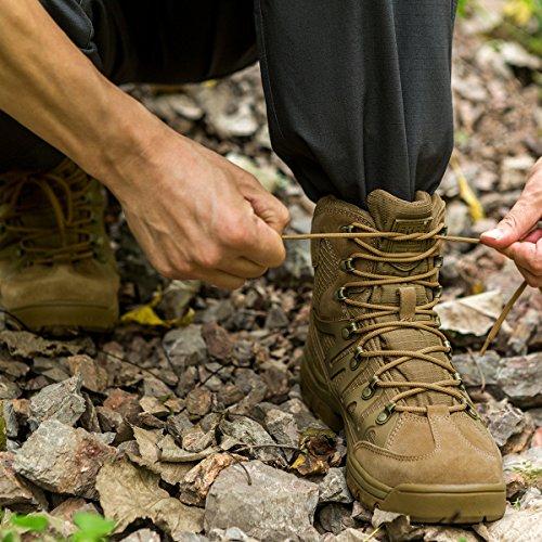 Wolf Tactique Homme Soldier Mid Cuir High Brown Bottes Randonnée Chaussures Pour De Free Rise D'hiver COtgFwqw