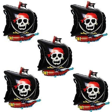 Amazon.com: TRIXES - Lote de 5 globos de lámina pirata, 24.0 ...