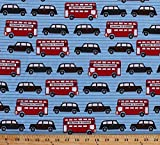 Next Stop-London by Laurie Wisbrun for Robert Kaufman Fabrics celebrates the sites and sounds of modern-day London — including the instantly recognizable double-decker bus! Laurie's aesthetic is about finding beauty in ordinary objects and patterns a...