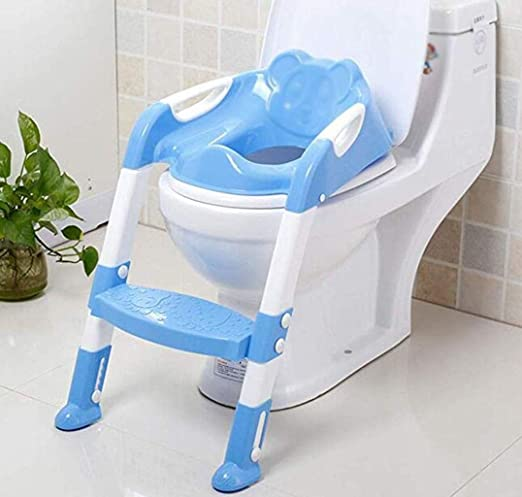 BLHZPD Asiento de Escalera for Inodoro de Entrenamiento for bebés Niño pequeño Asistente de baño con Pasos for niños: Amazon.es: Hogar