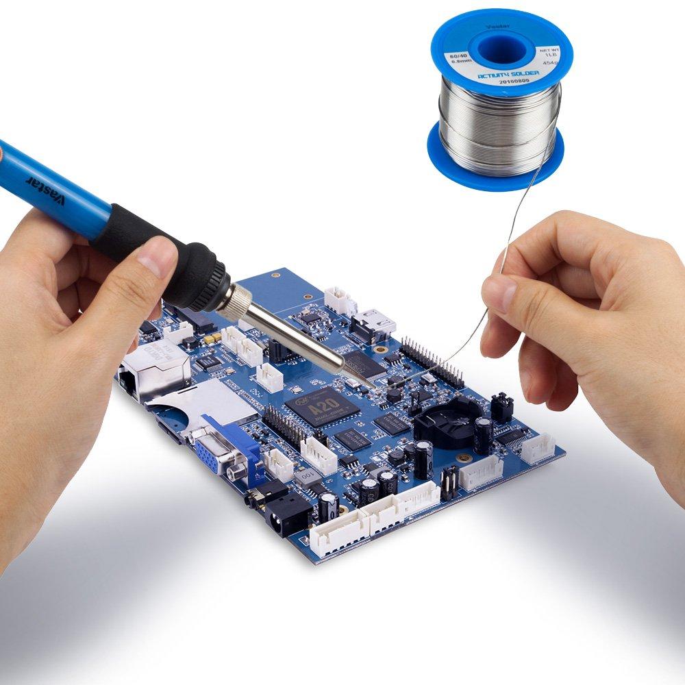 Vastar 454G Activity Wire Solder 60/40 (60% Tin, 40% Lead), 0.8mm ...