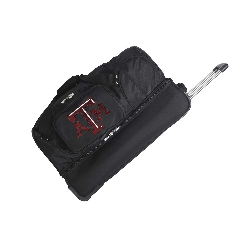 27-inches NCAA Texas A/&M Aggies Rolling Drop-Bottom Duffel Bag
