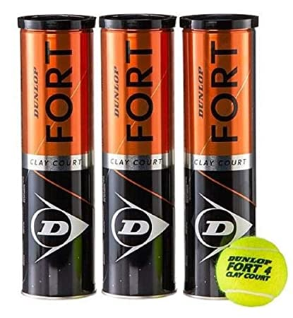 Dunlop Fort Clay Court Tennisball  3 x 4er Dosen 12 Bälle