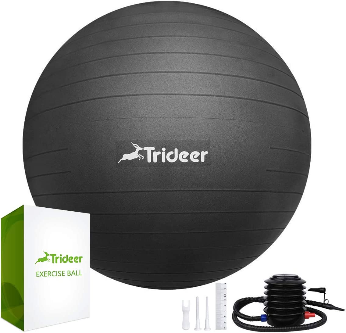Trideer Exercise Ball 45-85cm Extra Thick Yoga Ball Chair