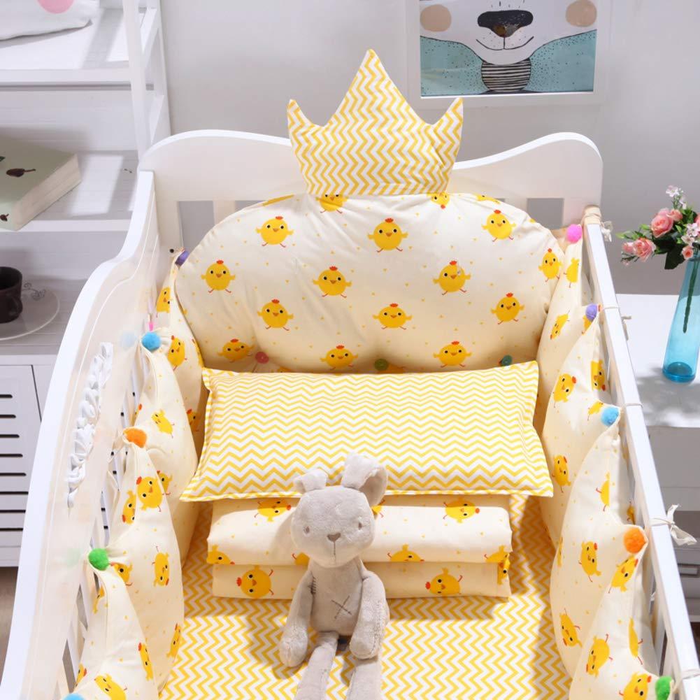 Xxn コットンのリバーシブル ベビー寝具セット,バンパーのすべてのラウンド ユニセックス 無衝突赤ちゃんベビーベッド バンパー パッド入りベビーベッド バンパー2-防止アレルギー 2-C パッケージC   B07KY6ZVF4