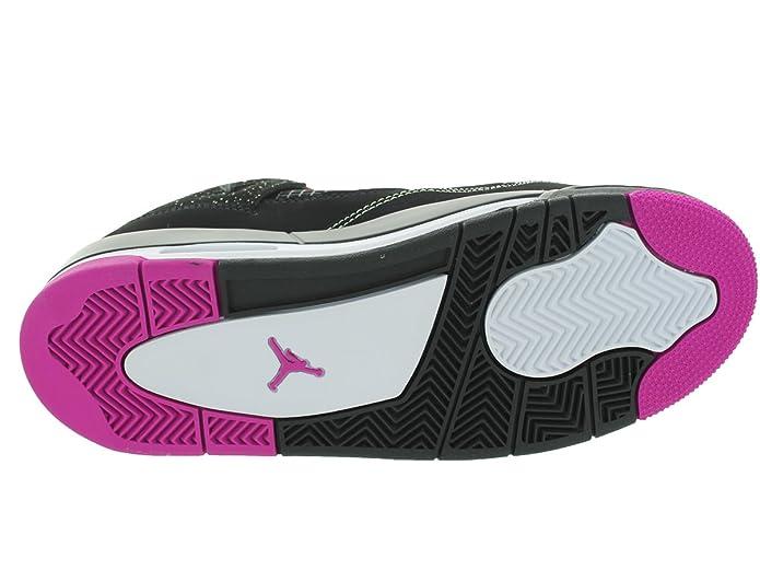 1de5da9ccd827 Jordan Nike Kids Air 4 Retro 30th GG Black/Fushsia Flash/Lqd Lm/Wht  Basketball Shoe 7 Kids US