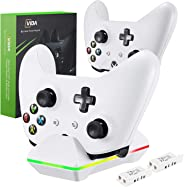 Xbox One Controller Charger, CVIDA Dual Xbox One/One S/One Elite Charging Station with 2 x 800mAh Rechargeable Battery Packs