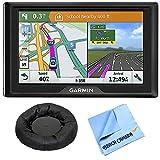Garmin Drive 51 LM GPS Navigator with Driver Alerts USA (010-01678-0B) with Universal GPS Navigation Dash-Mount & 1 Piece Micro Fiber Cloth