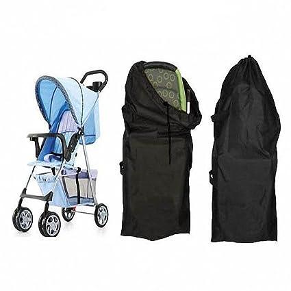 Hrph Infantil del bebé puerta de niño controlar la carrera del paraguas estándar doble Cochecito Cochecito Cochecito Bolsa carro de bebé del ...