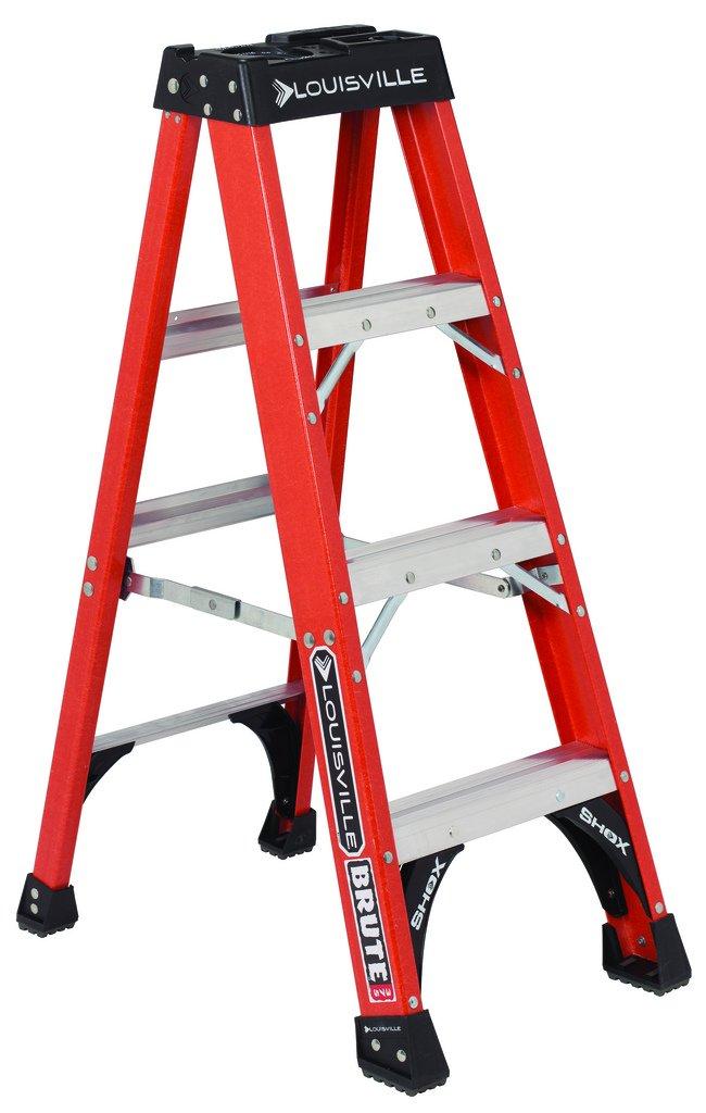 Louisville Ladder 4-Foot Fiberglass Step Ladder, 375-Pound Capacity, FS1404HD