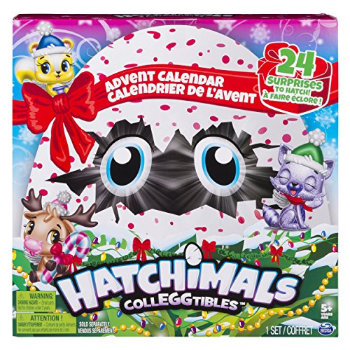 Hatchimals Colleggtibles - Advent Calendar with Exclusive Characters & Paper Craft Accessories, for Ages 5 & Up ()