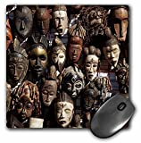 Danita Delimont - David Wall - Markets - Mask stall at African curio market, Cape Town, South Africa. - MousePad (mp_187950_1)