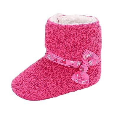 Zapatos Newborn Bebé Primeros Pasos, ❤ Zolimx Zapatos Bebe Niña Bautizo Botines Blandos Proa Nieve Botas Bebe Recién Nacido Zapatos Calientes: Amazon.es: ...