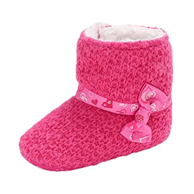 Infant//Toddler Lurryly❤Baby Girls Warm Booties First Walkers Anti-Slip Snow Boots Shoes