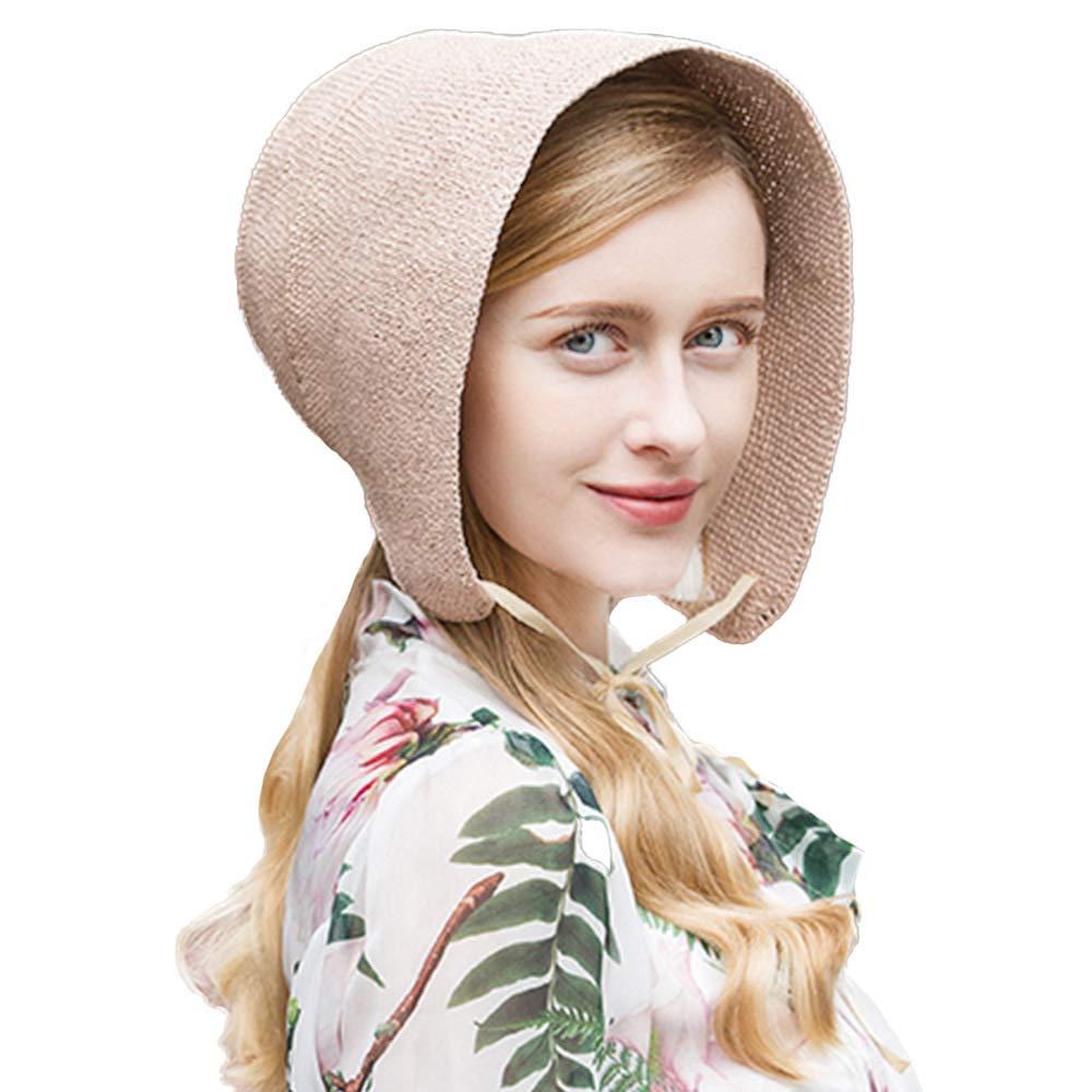Women Summer Cloche Straw Hats Vintage Sun Hat Beach Garden Cap Rustic Style