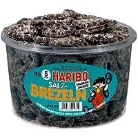 Haribo Salty Licorice Pretzels / Salzbrezel, 1050g Tub