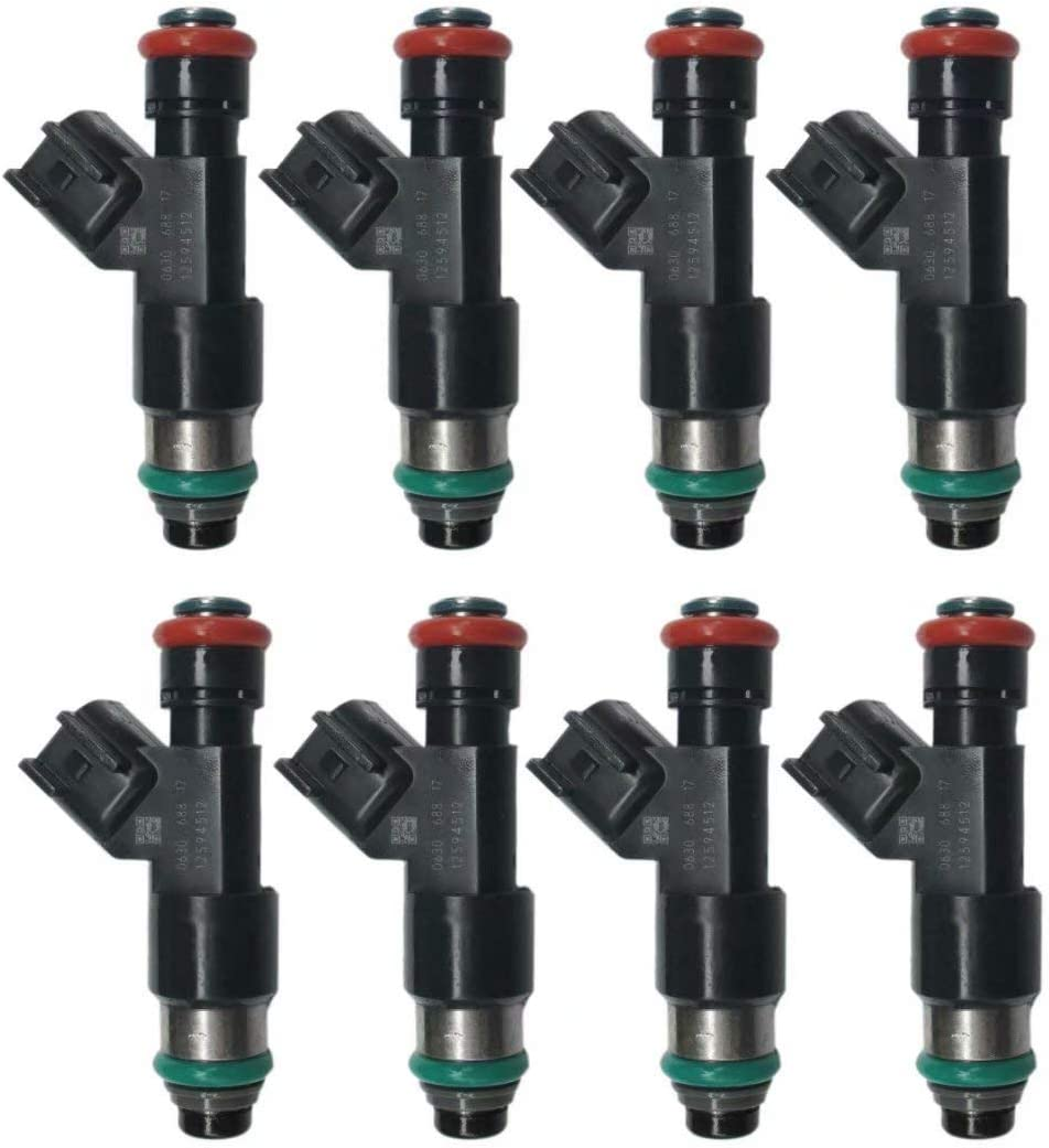 8 Pcs Fuel Injectors Nozzle 12594512 For Chevrolet Express 1500 5.3L-V8 217-2436 For GMC Auto Replacement Part HIGH PERFORMANCE