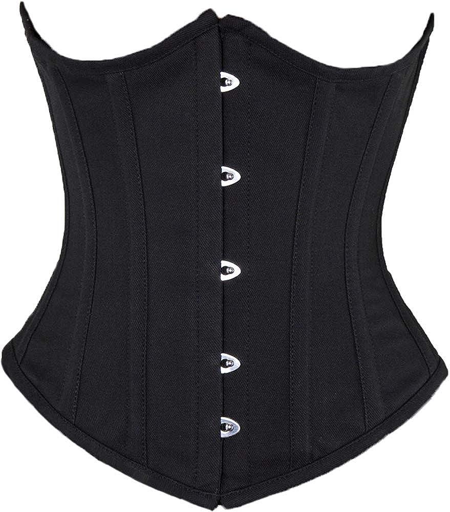 size 2,4,6,8,10,12,14,16,18,20 I-Curves Beautiful Black Satin Underbust corset