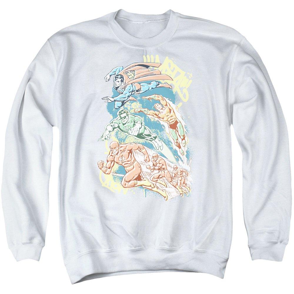 DC Comics Mens Halftone League Sweater