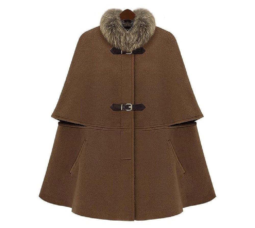 Angel&Lily FAUX FUR collar Cloak Cape overcoat PLUS 1X2X3X4X5X6X7X8X9X10X(size16-52)