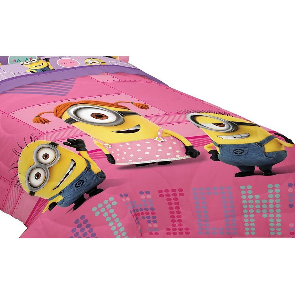 100% Polyester Minions Girl 'Way 2 Cute' Twin/Full Bedding Comforter ML544C